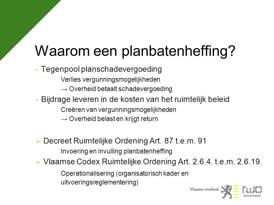 Planbaten in de regelgeving Vlaamse Codex RO Art.2.2.2.