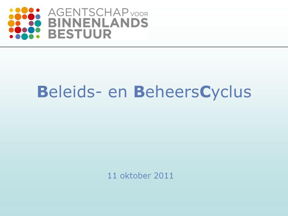 Beleids- en BeheersCyclus 11 oktober 2011