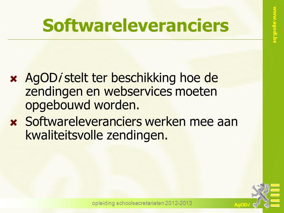 www.agodi.be AgODi Foutenrapporten Oefeningen opleiding schoolsecretariaten 2012-2013