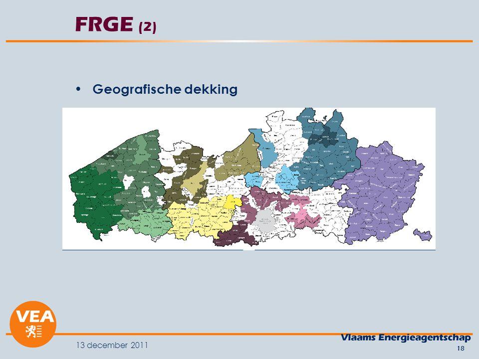 13 december 2011 18 FRGE (2) Geografische dekking
