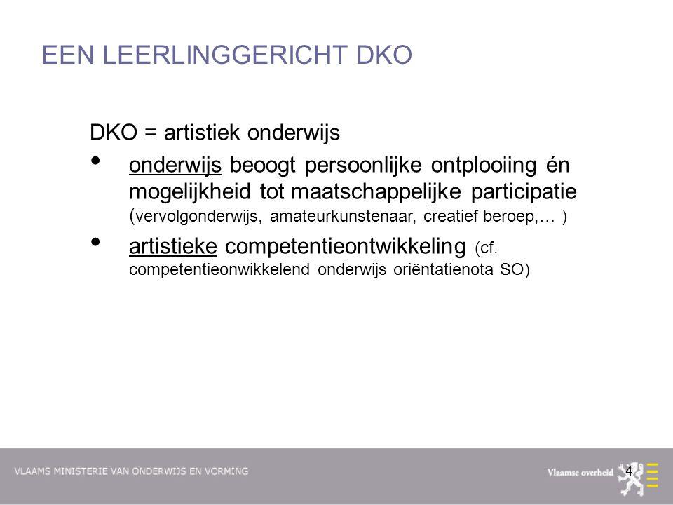 55 DE AANKOMST Ingangsdatum niveaudecreet DKO = 1 september 2013 -Overgangsmaatregelen (o.a.