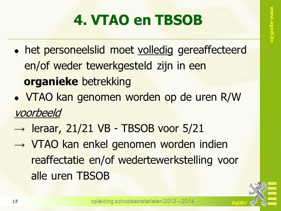 www.agodi.be AgODi VTAO: een recht? VTAO is geen recht en geen plicht  bij dezelfde I.M. met instemming van het personeelslid  bij een andere I.M. m