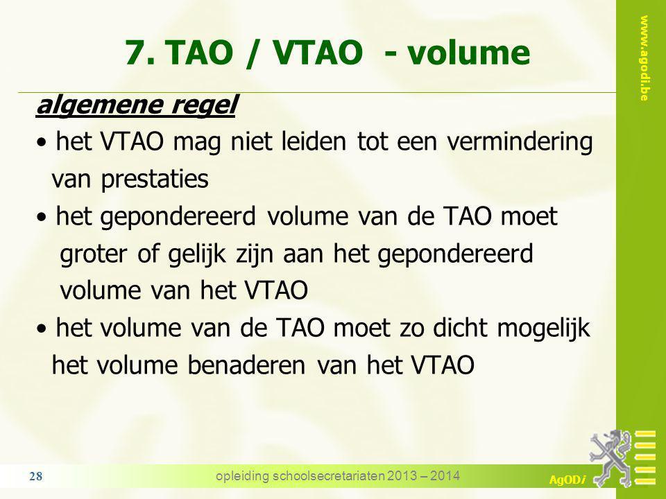 www.agodi.be AgODi 6. dienstonderbrekingen tijdens de TAO - opdracht dienstonderbrekingen mogelijk op TAO omstandigheidsverlof n.a.v. de bevalling onb