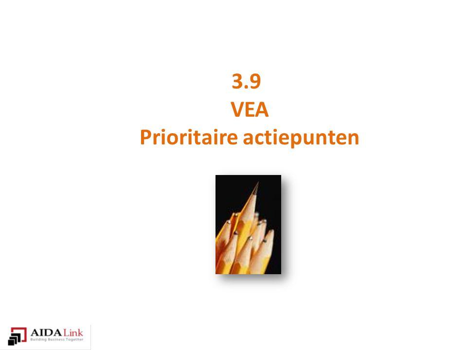 3.9 VEA Prioritaire actiepunten