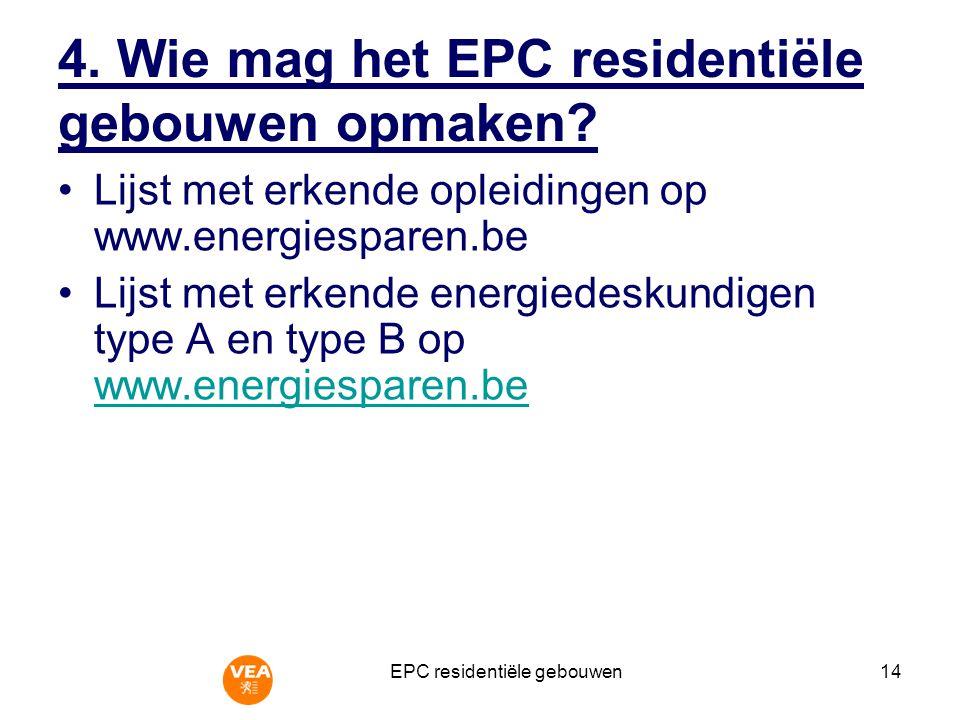 EPC residentiële gebouwen15 5.