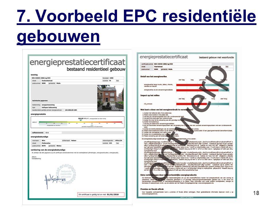 EPC residentiële gebouwen18 7. Voorbeeld EPC residentiële gebouwen
