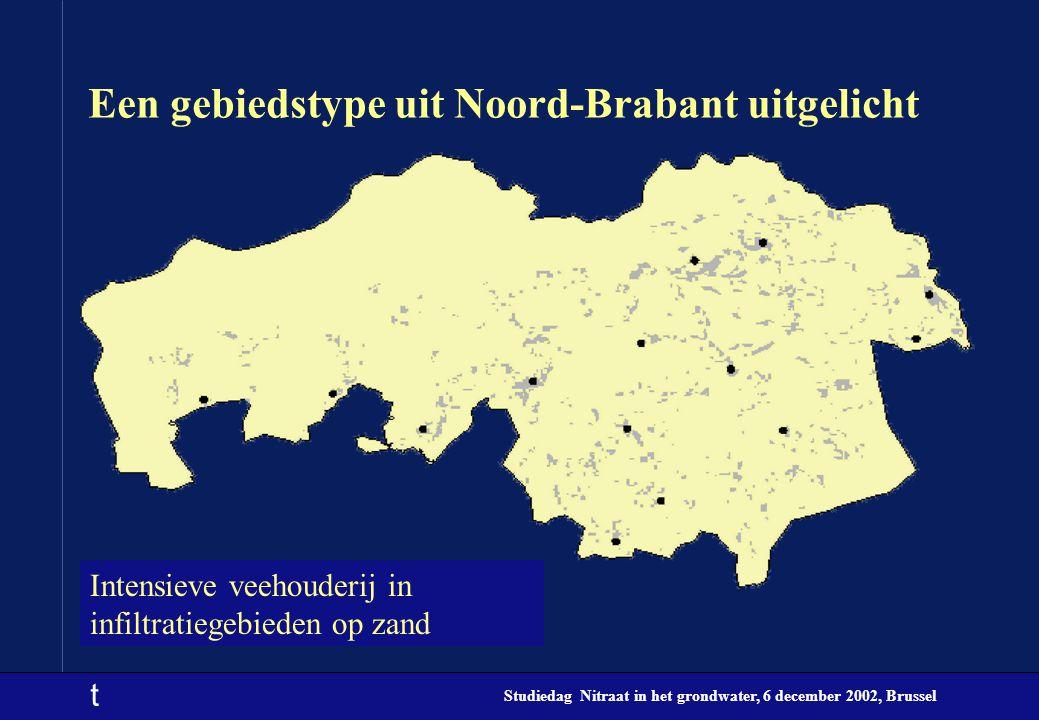 t Studiedag Nitraat in het grondwater, 6 december 2002, Brussel Een gebiedstype uit Noord-Brabant uitgelicht Intensieve veehouderij in infiltratiegebi