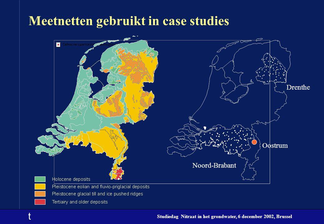 t Studiedag Nitraat in het grondwater, 6 december 2002, Brussel Een gebiedstype uit Noord-Brabant uitgelicht Intensieve veehouderij in infiltratiegebieden op zand