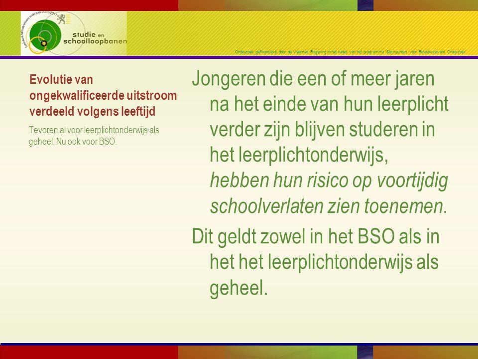Onderzoek gefinancierd door de Vlaamse Regering in het kader van het programma 'Steunpunten voor Beleidsrelevant Onderzoek' Evolutie van ongekwalifice