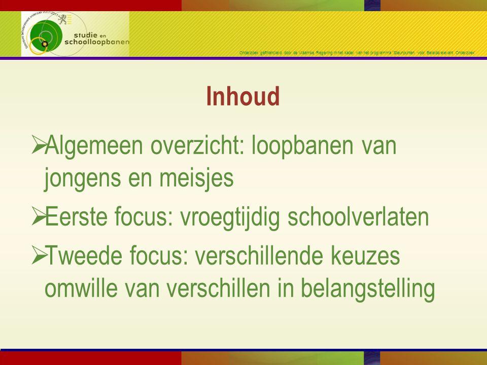 Onderzoek gefinancierd door de Vlaamse Regering in het kader van het programma 'Steunpunten voor Beleidsrelevant Onderzoek'  Algemeen overzicht: loop