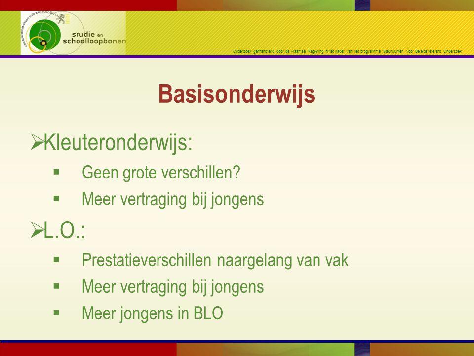Onderzoek gefinancierd door de Vlaamse Regering in het kader van het programma 'Steunpunten voor Beleidsrelevant Onderzoek'  Kleuteronderwijs:  Geen grote verschillen.