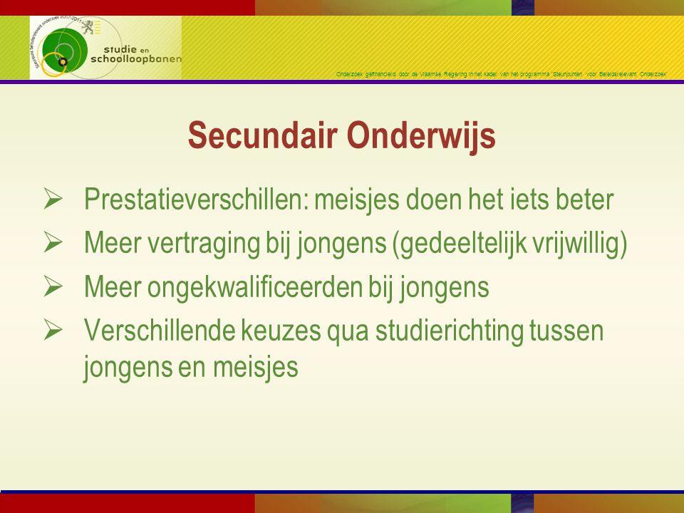 Onderzoek gefinancierd door de Vlaamse Regering in het kader van het programma 'Steunpunten voor Beleidsrelevant Onderzoek'  Prestatieverschillen: me