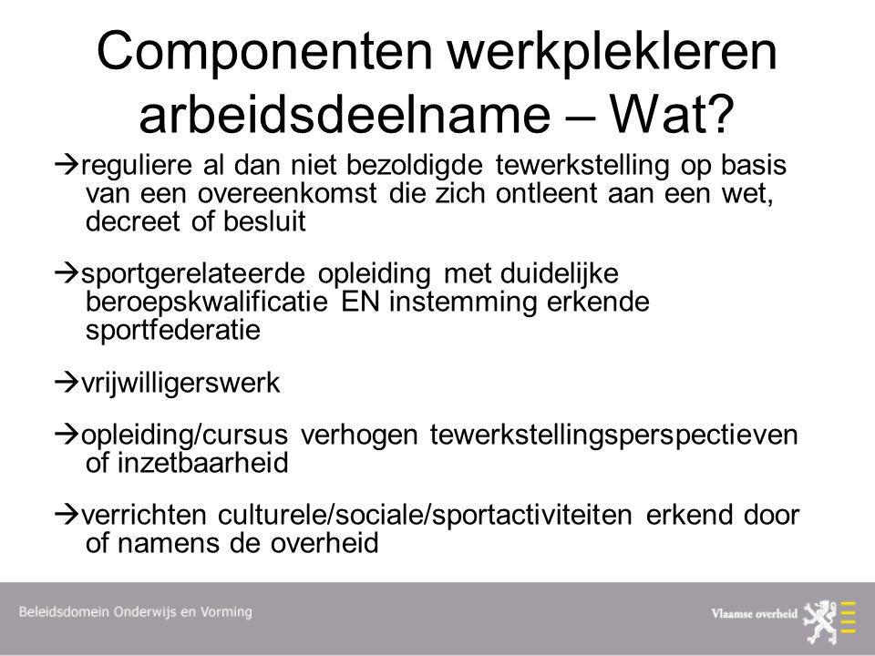 Componenten werkplekleren arbeidsdeelname – Wat.