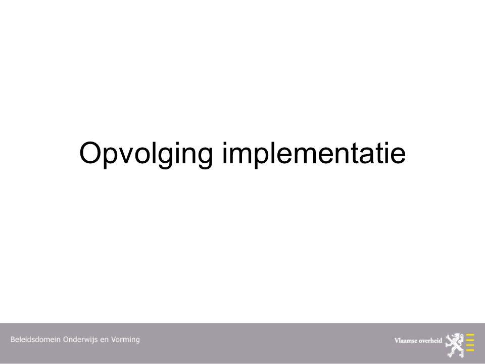 Opvolging implementatie