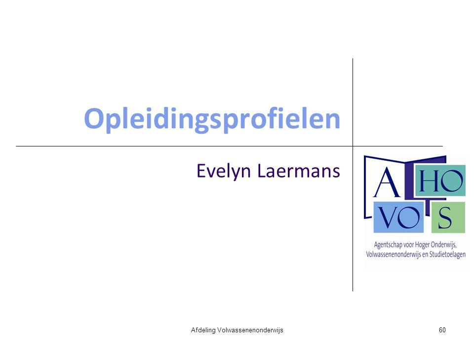 Opleidingsprofielen Evelyn Laermans Afdeling Volwassenenonderwijs60