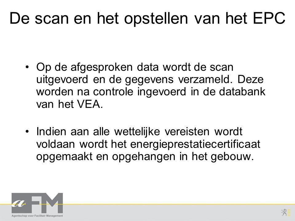 De scan en het opstellen van het EPC Op de afgesproken data wordt de scan uitgevoerd en de gegevens verzameld.
