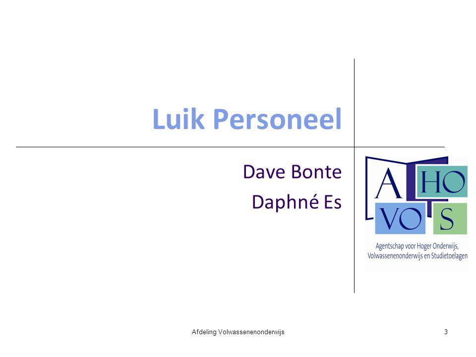 Luik Personeel Dave Bonte Daphné Es Afdeling Volwassenenonderwijs3
