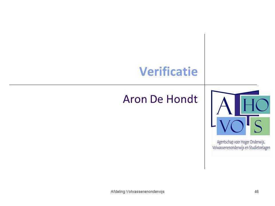 Verificatie Aron De Hondt Afdeling Volwassenenonderwijs46