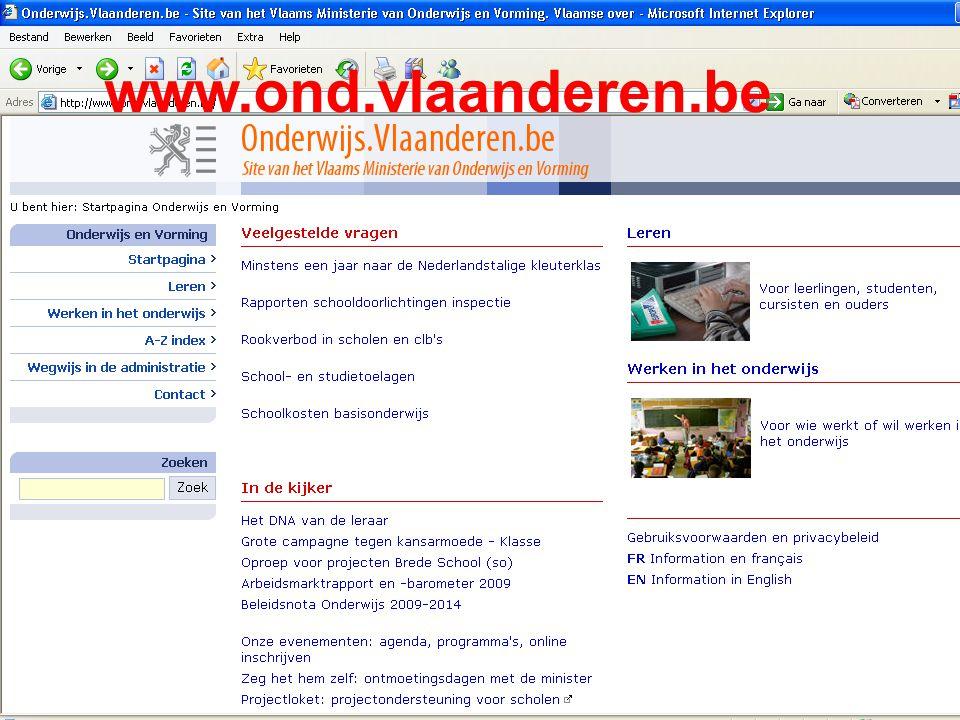 www.agodi.be AgODi opleiding schoolsecretariaten 2011-2012 www.ond.vlaanderen.be