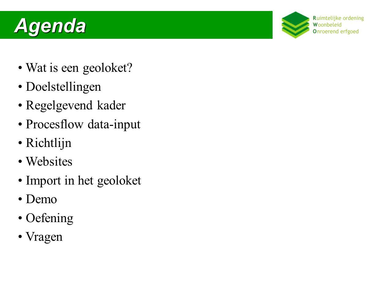 Agenda Agenda Wat is een geoloket.