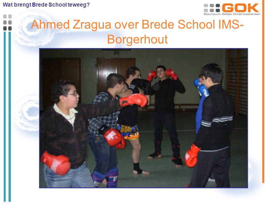 Ahmed Zragua over Brede School IMS- Borgerhout Wat brengt Brede School teweeg?