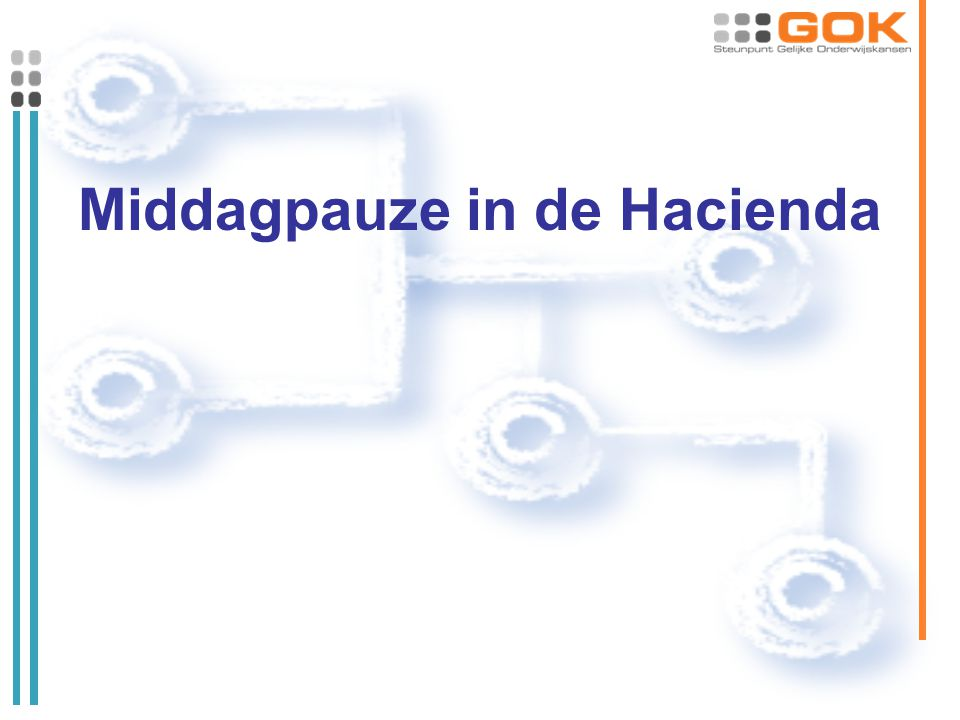 Middagpauze in de Hacienda