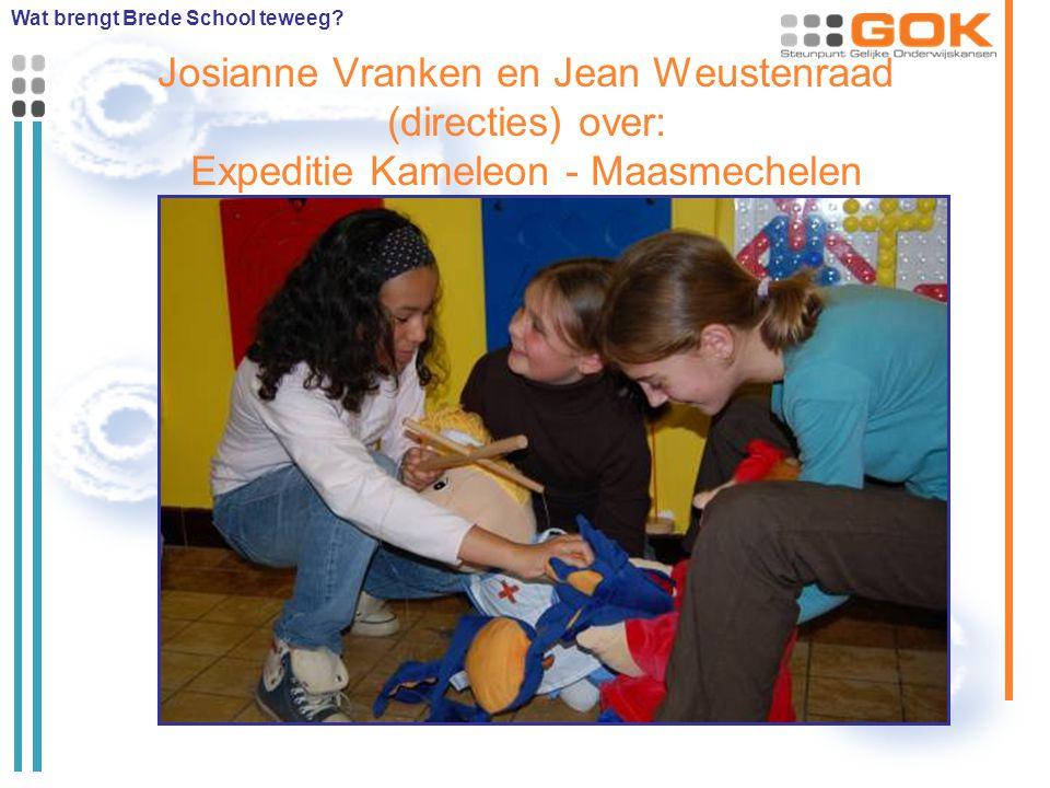 Josianne Vranken en Jean Weustenraad (directies) over: Expeditie Kameleon - Maasmechelen Wat brengt Brede School teweeg?