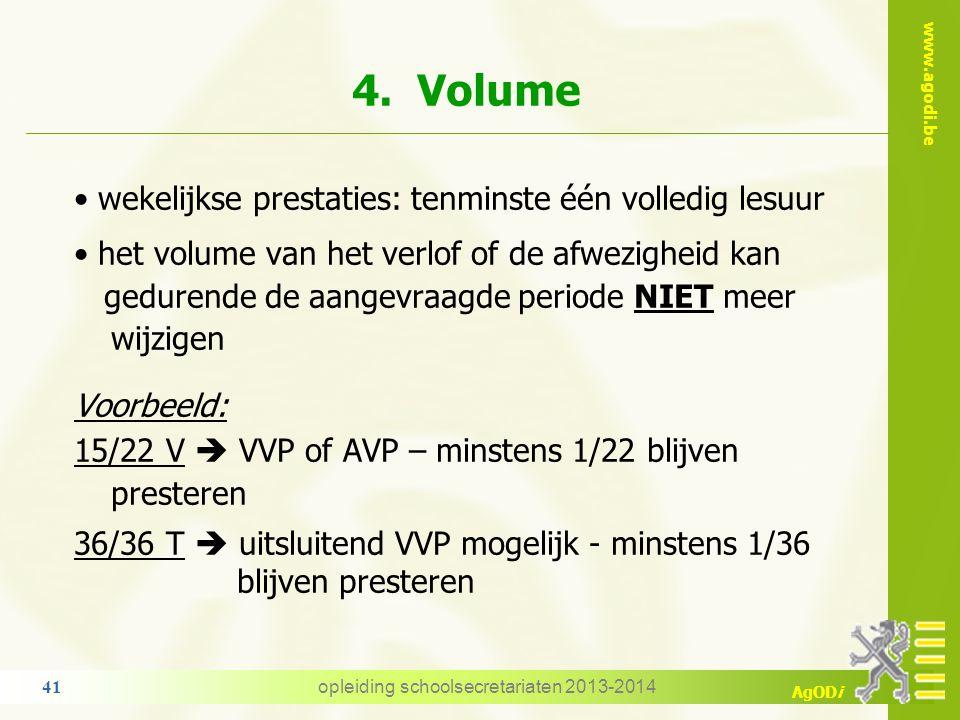 www.agodi.be AgODi 3. Algemene voorwaarden uitsluitend voor opdrachten in hoofdambt vastbenoemd tijdelijk: enkel VVP/SF indien aangesteld  voor een v