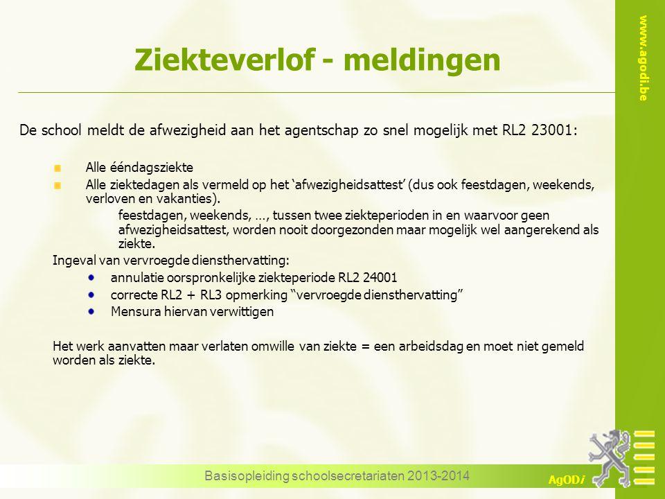 www.agodi.be AgODi Bevallingsverlof – simulatie Basisopleiding schoolsecretariaten 2013-2014