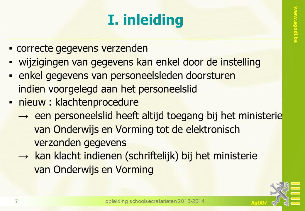 www.agodi.be AgODi woonplaats/verblijfplaats woonplaats = het officiële adres van het personeelslid in België (adres van domiciliëring) verblijfplaats = het adres van verblijf van het personeelslid (correspondentieadres) opgelet : er wordt geen rekening gehouden met de geldigheidsdatum.