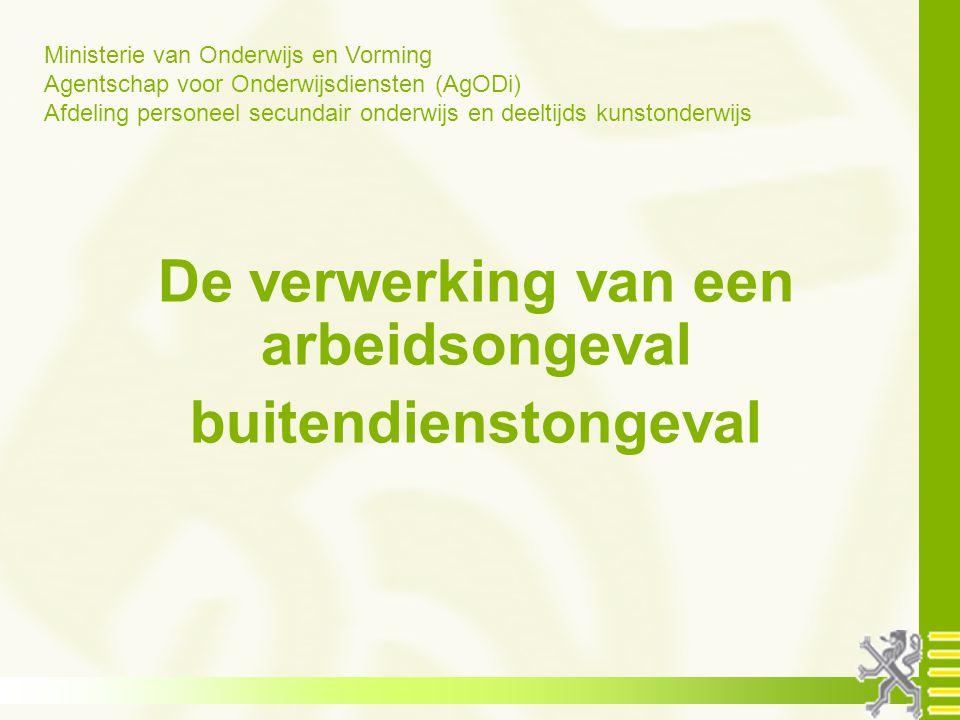 opleiding schoolsecretariaten 2011-2012 Weg - werkongeval Normale traject tussen en zijn/ haar werkplaats Wat is dat?