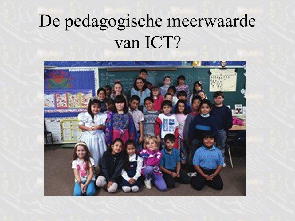 ICT niet als substitutie zien ICT: herdenken van oude onderwijsconcepten Uitgevers: methodes.