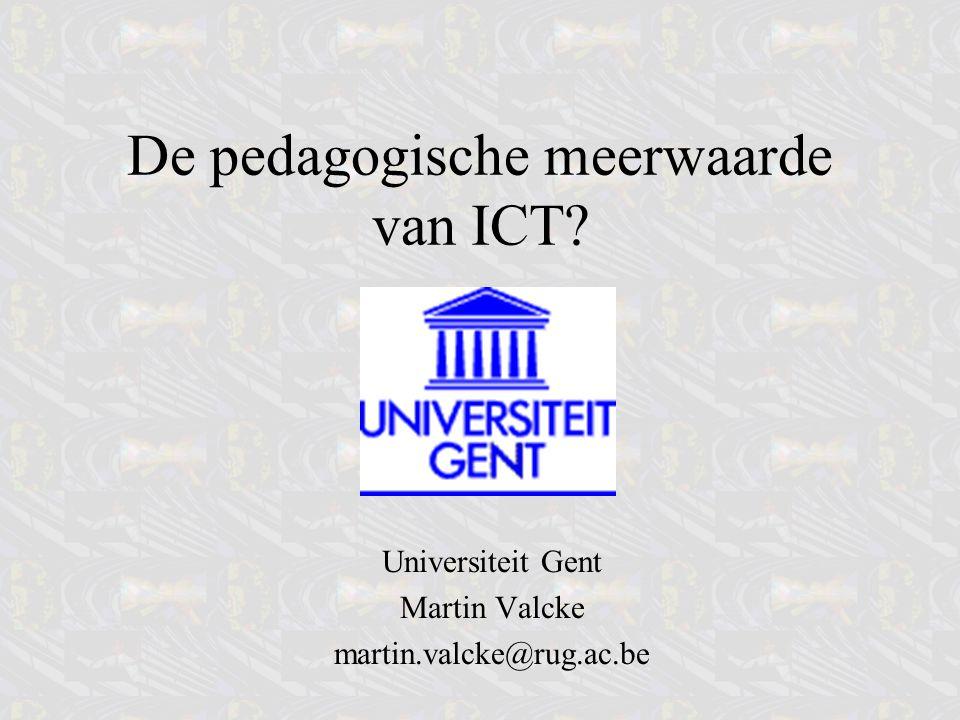 Conclusies Meerwaarde: meerdere perspectieven Nieuwe didactiek –eisen aan lesgevers (professionalisering) –ICT katalysator maar volgend –Lftd –Gender Vaardigheden: analyse eindtermen/comp./kwal.