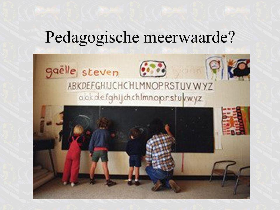 Pedagogische meerwaarde?