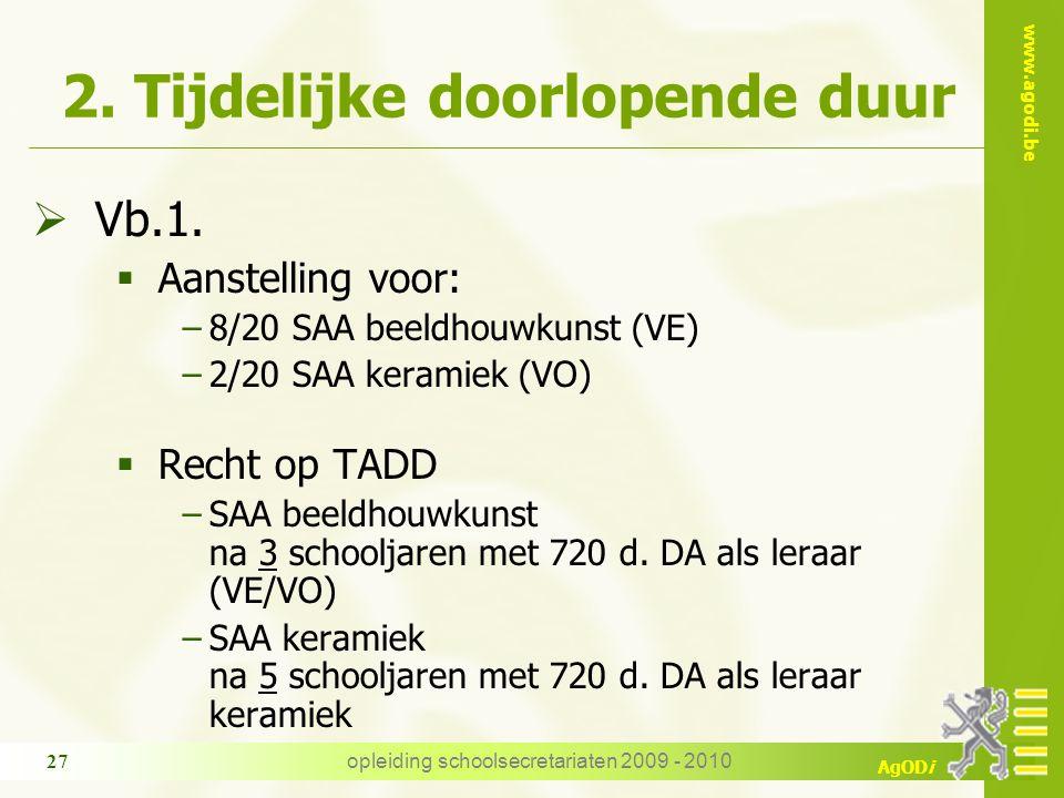 www.agodi.be AgODi opleiding schoolsecretariaten 2009 - 2010 27 2.