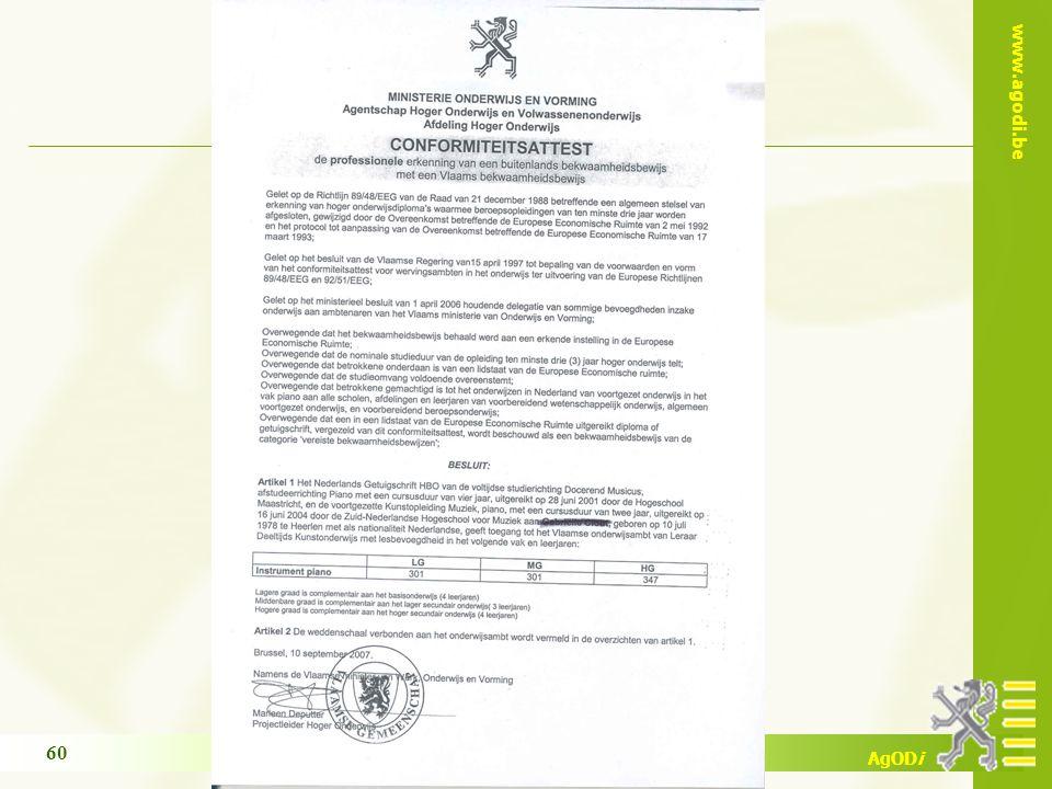 www.agodi.be AgODi opleiding schoolsecretariaten 2009 - 2010 60