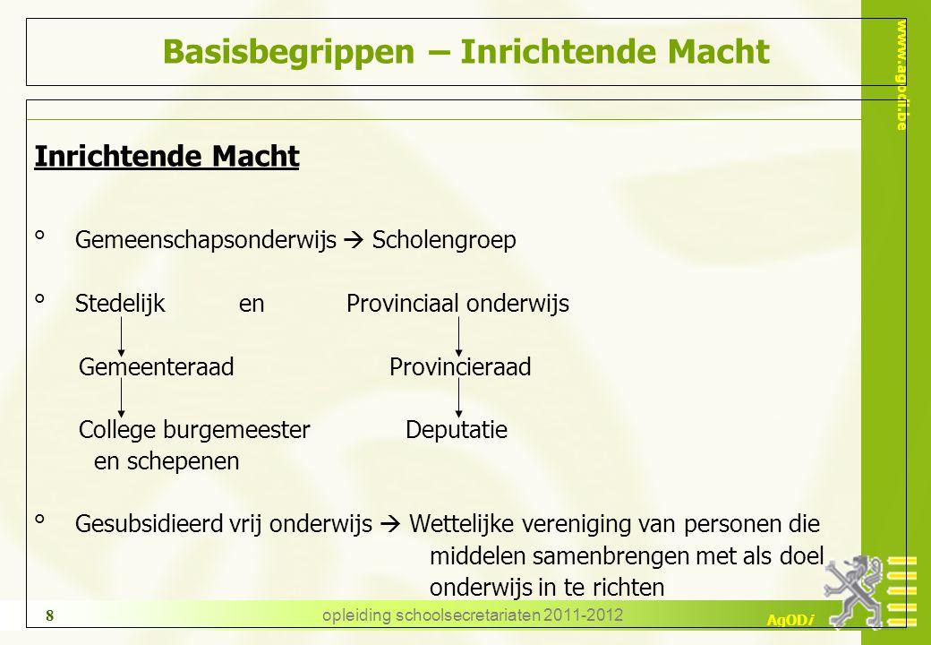 www.agodi.be AgODi opleiding schoolsecretariaten 2011-2012 39 TBS – OB Procedure Wie wordt TBS-OB .