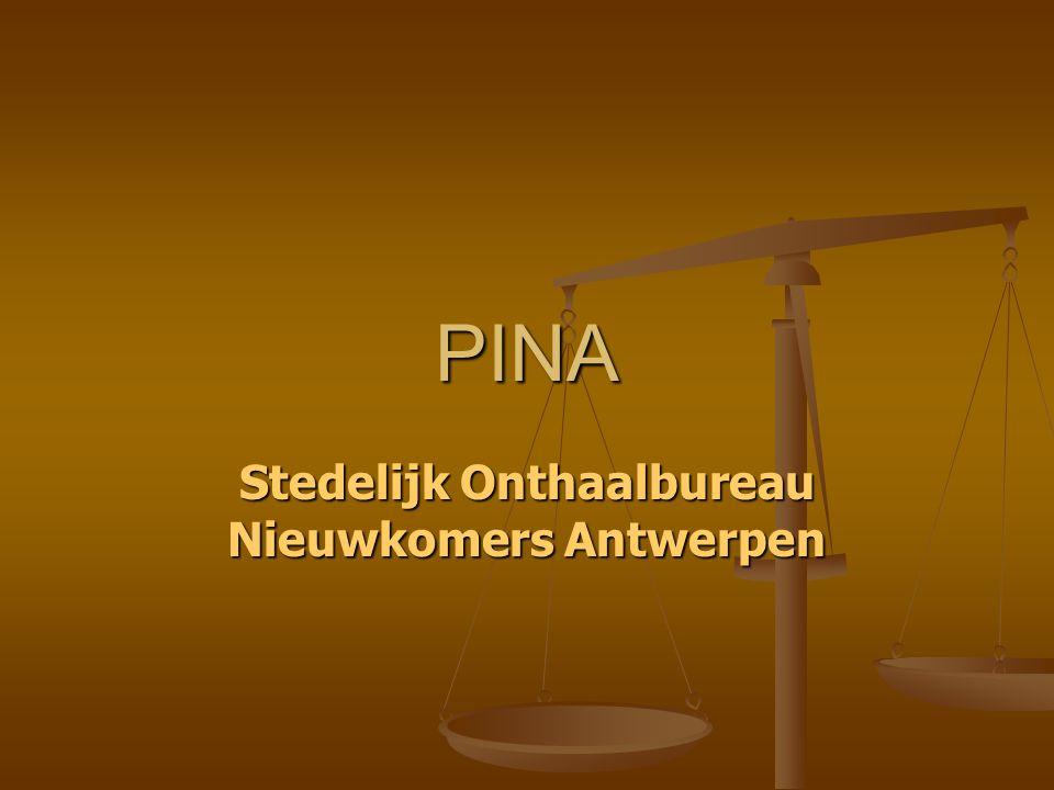 PINA Stedelijk Onthaalbureau Nieuwkomers Antwerpen