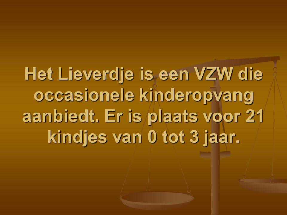 Het Lieverdje is een VZW die occasionele kinderopvang aanbiedt. Er is plaats voor 21 kindjes van 0 tot 3 jaar.