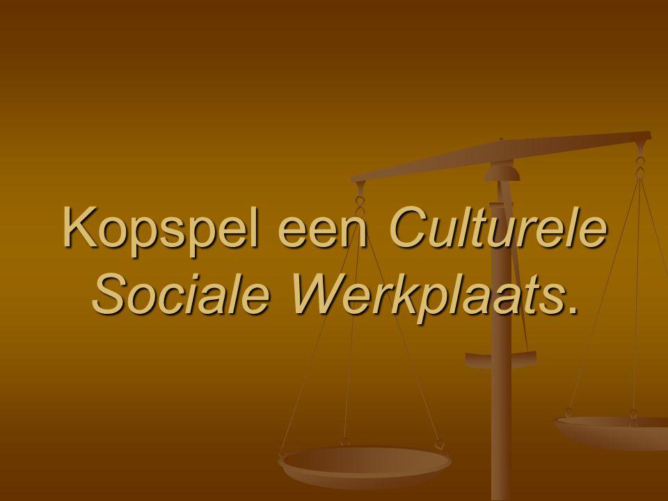 Kopspel een Culturele Sociale Werkplaats.