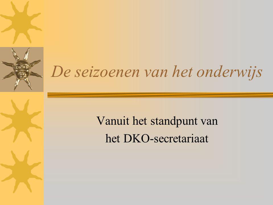 De seizoenen van het onderwijs Vanuit het standpunt van het DKO-secretariaat