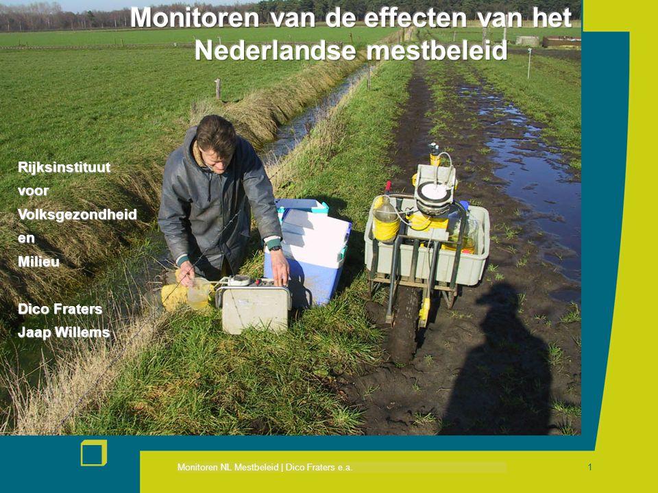 Monitoren NL Mestbeleid | Dico Fraters e.a. r 1 RijksinstituutvoorVolksgezondheidenMilieu Dico Fraters Jaap Willems