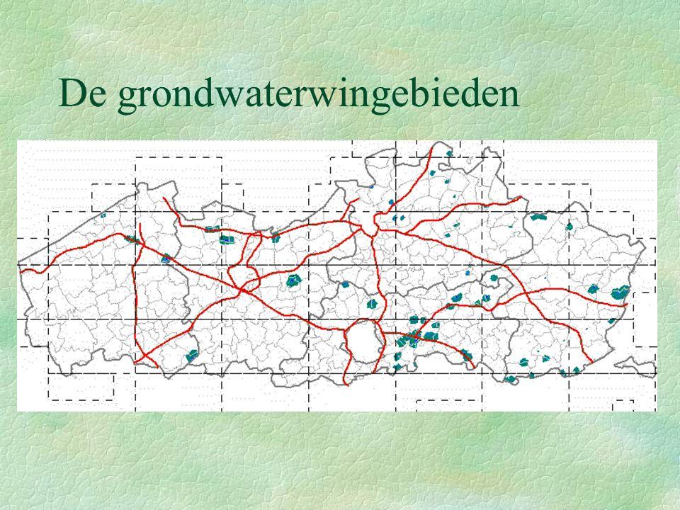 De grondwaterwingebieden