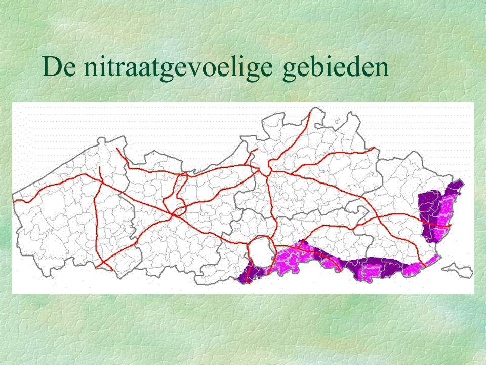 De nitraatgevoelige gebieden