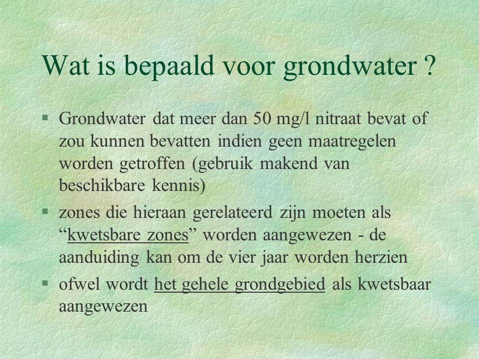 Wat is bepaald voor grondwater .