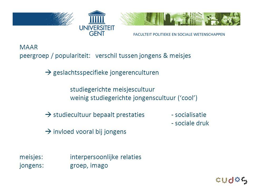 Mannen en vrouwen in bacheloropleidingen per faculteit (%) UGent – 2011-2012