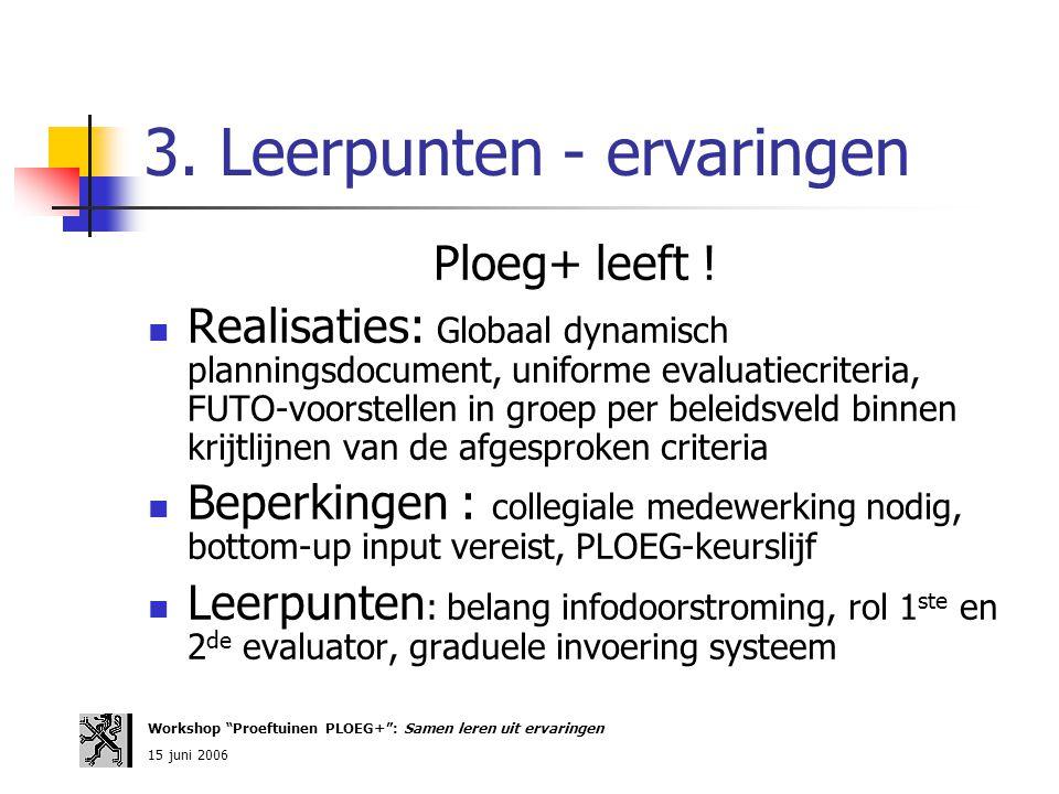 3.Leerpunten - ervaringen Ploeg+ leeft .