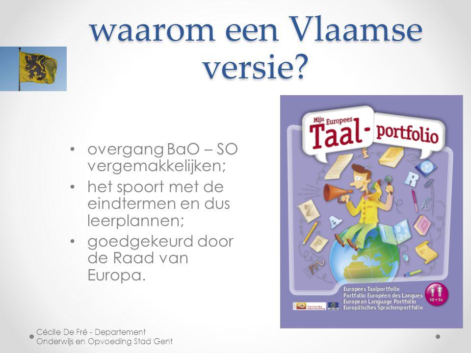 waarom een Vlaamse versie.