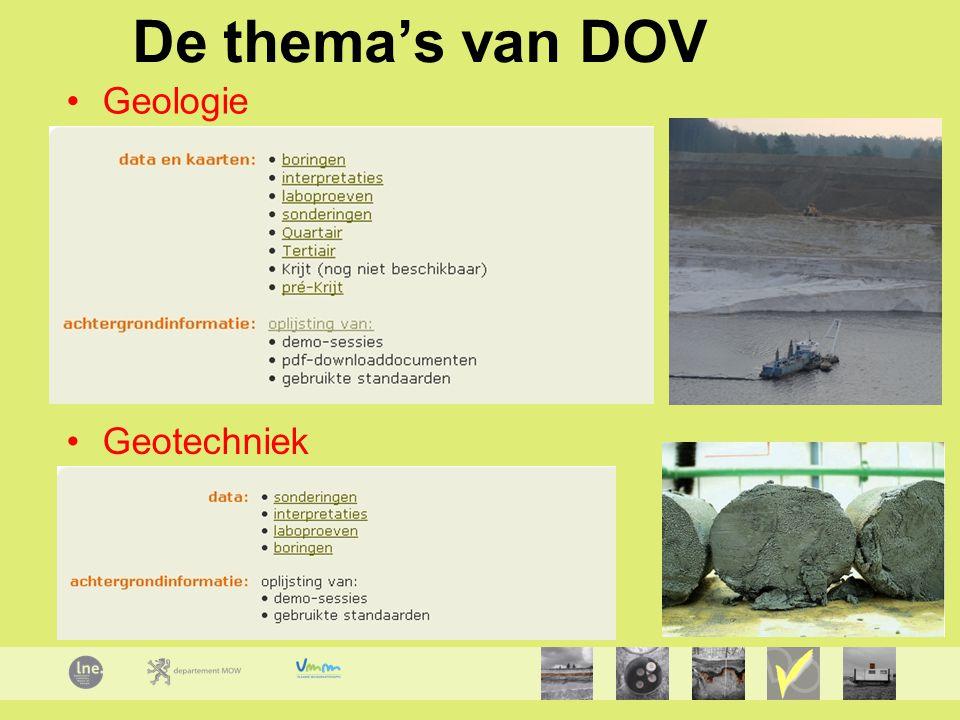 De thema's van DOV Geologie Geotechniek