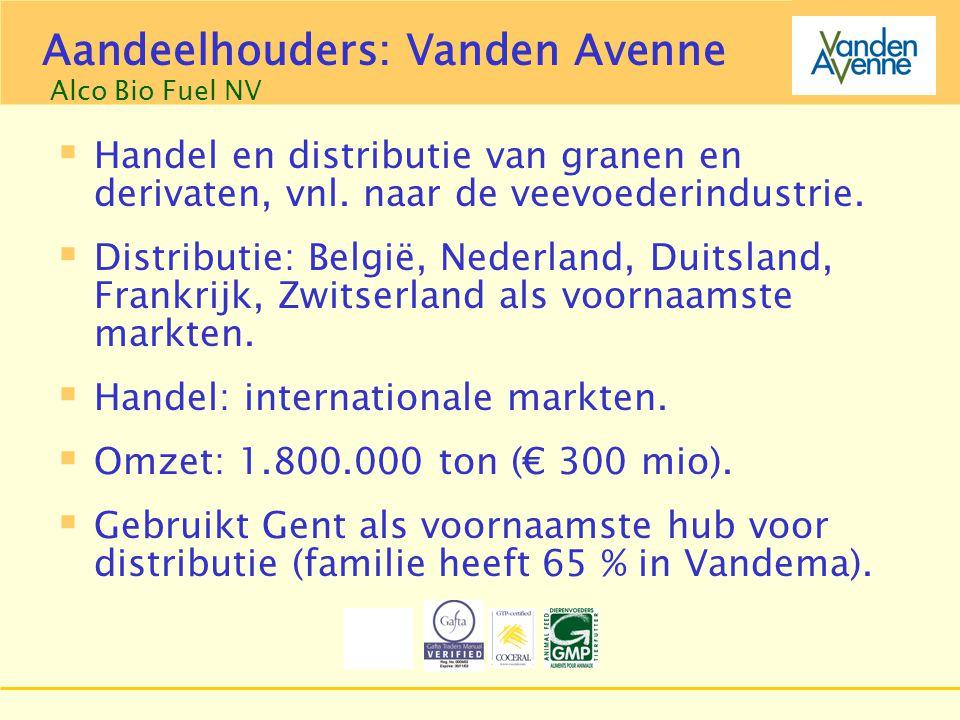 Groep Aveve  Handel en distributie van granen en derivaten, vnl. naar de veevoederindustrie.  Distributie: België, Nederland, Duitsland, Frankrijk,